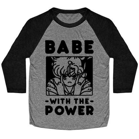 Babe With the Power Sailor Jupiter Baseball Tee