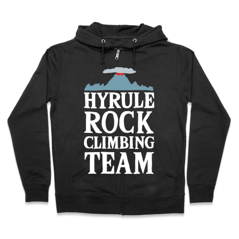 Hyrule Rock Climbing Team Zip Hoodie