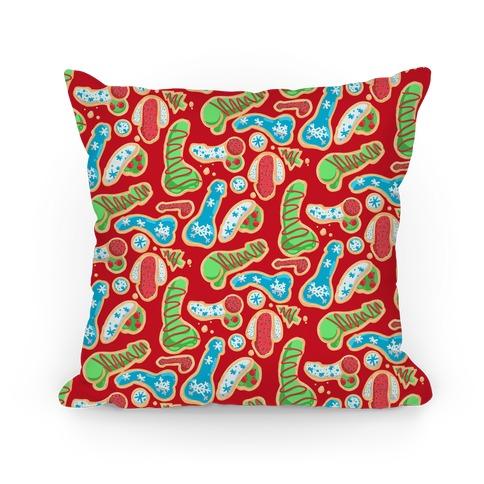 Phallic Christmas Cookies Pillow