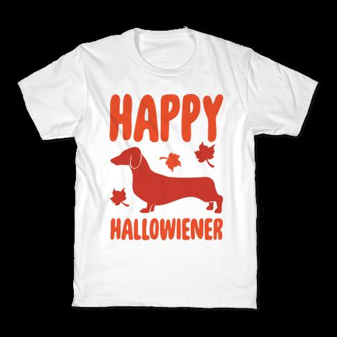 Happy Hallowiener Dachshund Parody  Kids T-Shirt