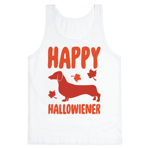 Happy Hallowiener Dachshund Parody  Tank Top
