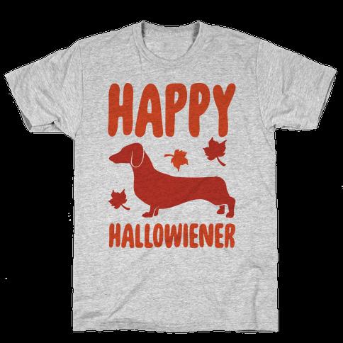 Happy Hallowiener Dachshund Parody  Mens T-Shirt