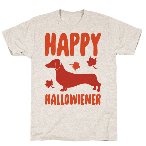 Happy Hallowiener Dachshund Parody  Mens T-Shirt