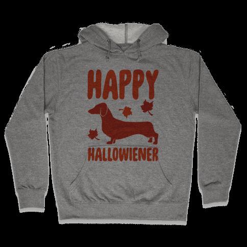 Happy Hallowiener Dachshund Parody  Hooded Sweatshirt