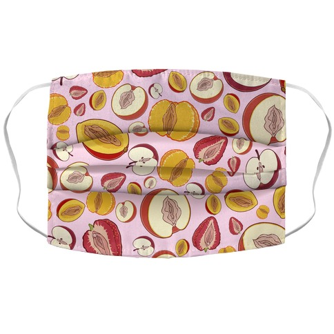 Fruity Vaginas Pattern Accordion Face Mask
