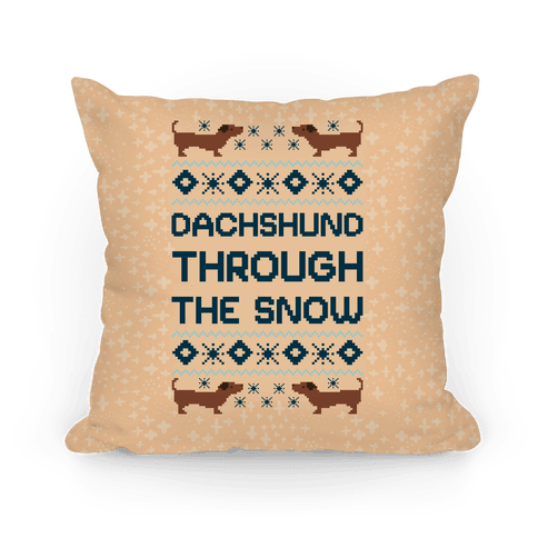 Dachshund Through The Snow Pillow