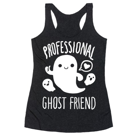 Professional Ghost Friend Racerback Tank Top