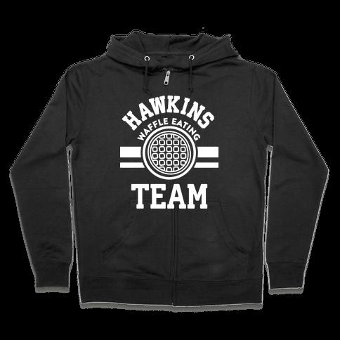 Hawkins Waffle Eating Team Zip Hoodie