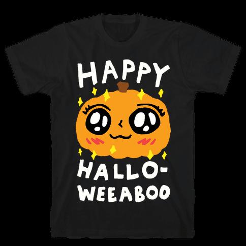 Happy Hallo-Weeaboo Pumpkin Mens T-Shirt