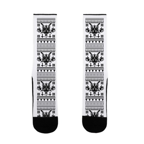 Baphomet Ugly Christmas Sweater  Sock
