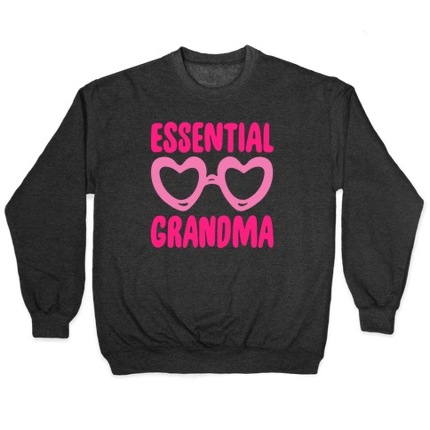 Essential Grandma White Print Pullover
