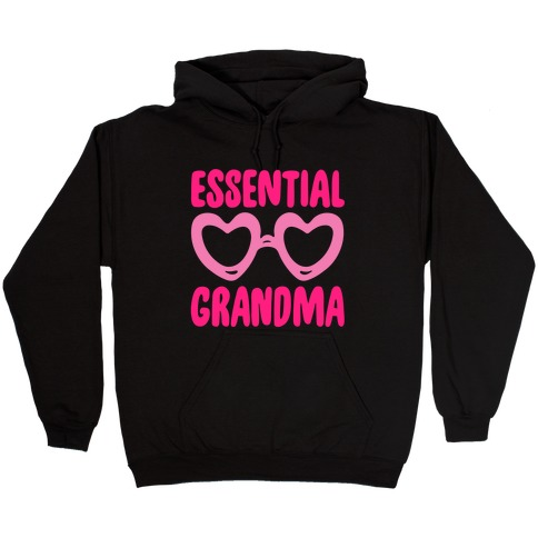 Essential Grandma White Print Hooded Sweatshirt