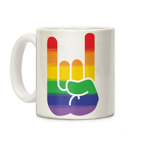 Rock On Gay Pride Coffee Mug