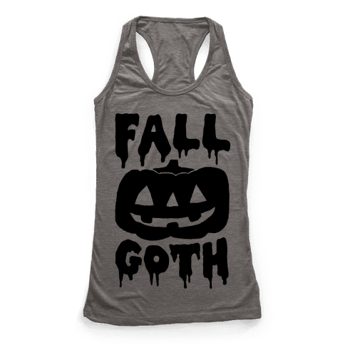 Fall Goth Racerback Tank Top
