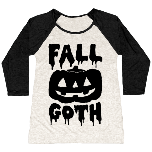 Fall Goth Baseball Tee
