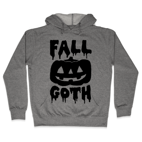 Fall Goth Hooded Sweatshirt