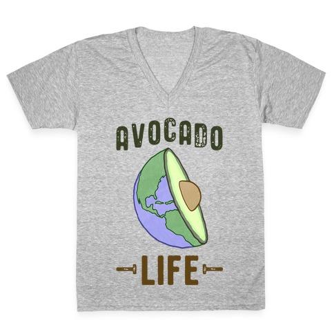 Avocado Life V-Neck Tee Shirt