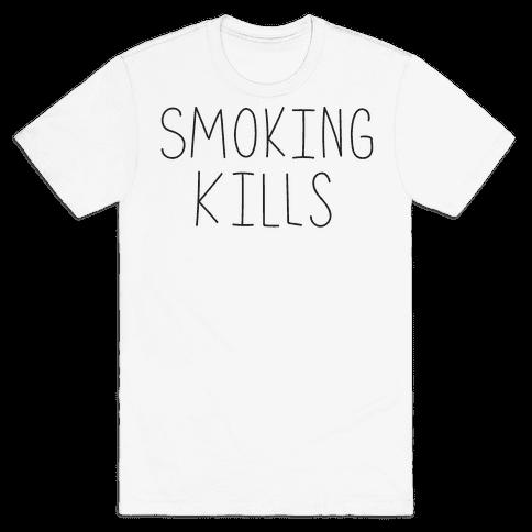 Smoking Kills  Mens T-Shirt
