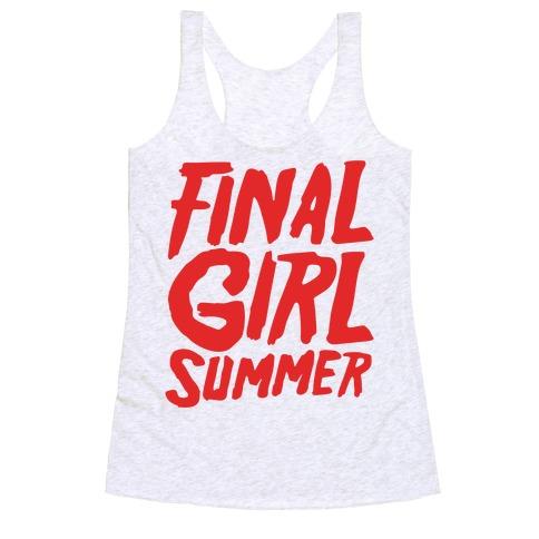 Final Girl Summer Parody Racerback Tank Top