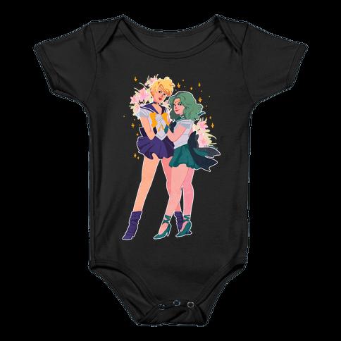 Sailor Neptune & Sailor Uranus Baby Onesy