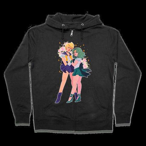 Sailor Neptune & Sailor Uranus Zip Hoodie