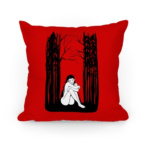 Forest Nymph (red) Pillow