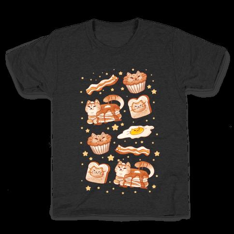 Breakfast Cats Kids T-Shirt