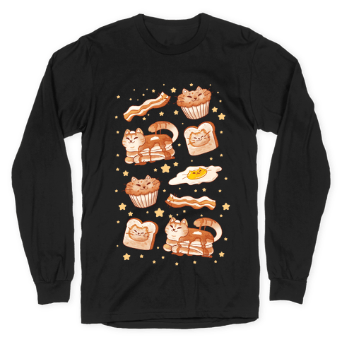 Breakfast Cats Long Sleeve T-Shirt