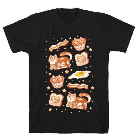 Breakfast Cats Mens/Unisex T-Shirt