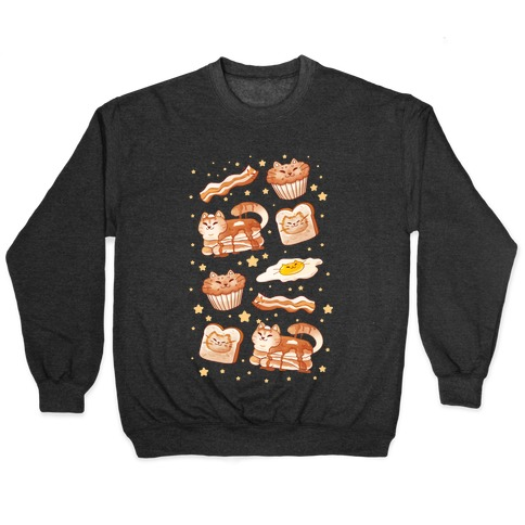 Breakfast Cats Pullover