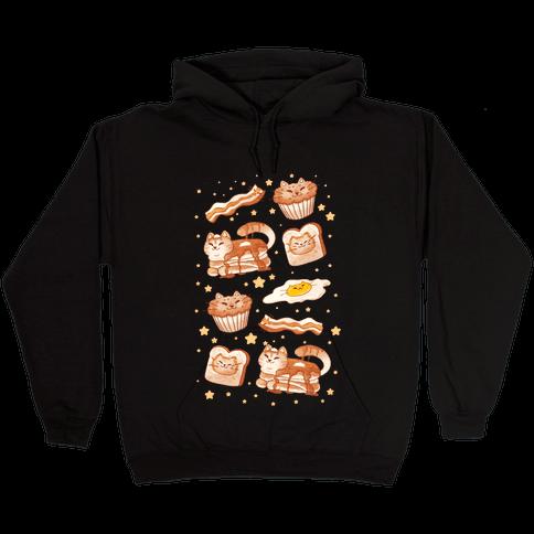 Breakfast Cats Hooded Sweatshirt