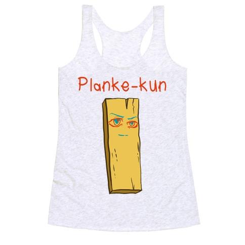 Planke-kun Anime Plank Racerback Tank Top