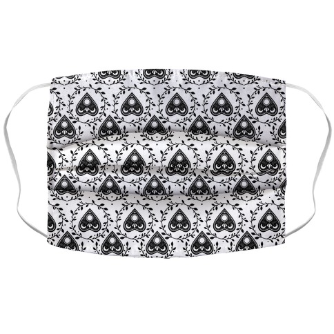 Planchette Pattern White Accordion Face Mask