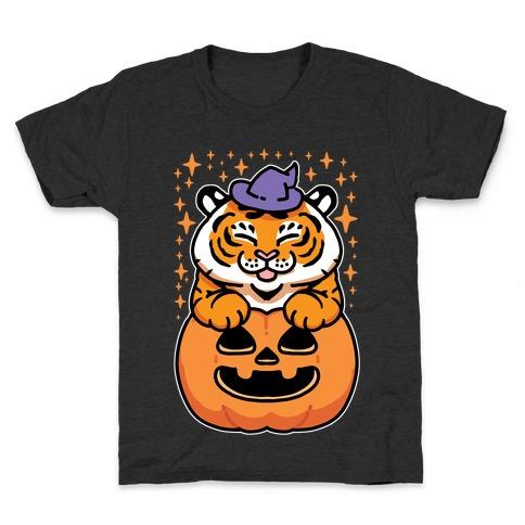 Cute Halloween Tiger Kids T-Shirt