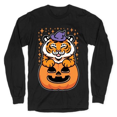 Cute Halloween Tiger Long Sleeve T-Shirt