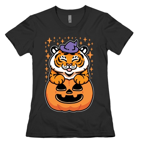 Cute Halloween Tiger Womens T-Shirt