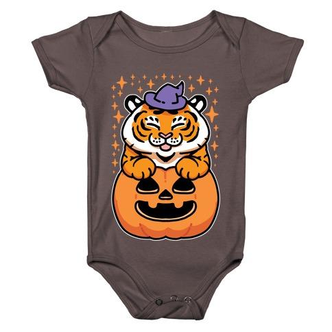 Cute Halloween Tiger Baby One-Piece