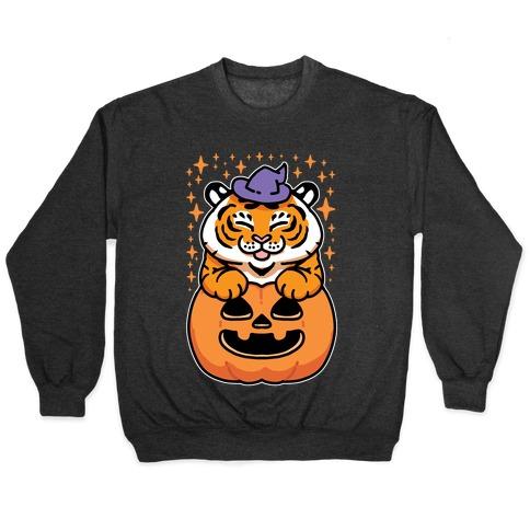 Cute Halloween Tiger Pullover