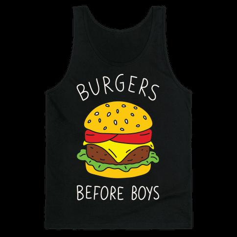 Burgers Before Boys Tank Top
