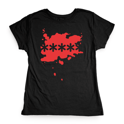 Futaba Red Splatter Womens T-Shirt