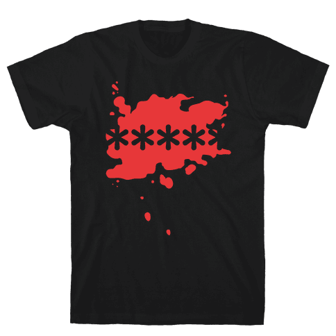 Futaba Red Splatter Mens T-Shirt