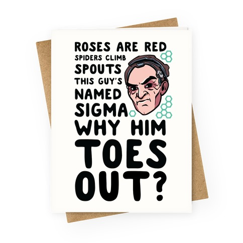 Sigma Toes Out Parody Greeting Card