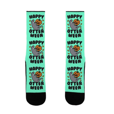 Happy Otterween Sock