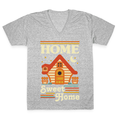 Home Sweet Home Animal Crossing V-Neck Tee Shirt