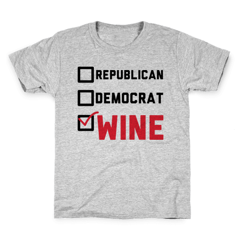 Republican Democrat Wine Kids T-Shirt
