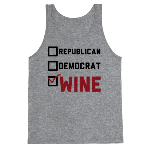 Republican Democrat Wine Tank Top