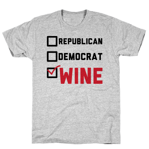 Republican Democrat Wine Mens T-Shirt