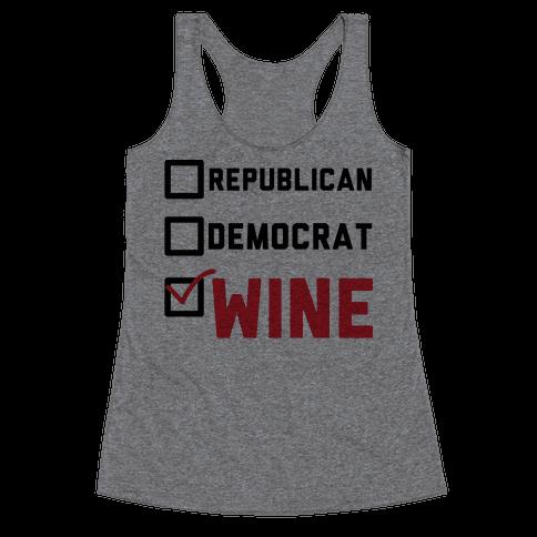 Republican Democrat Wine Racerback Tank Top