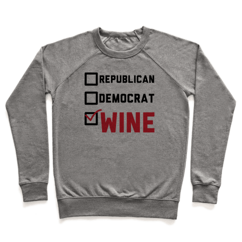 Republican Democrat Wine Pullover