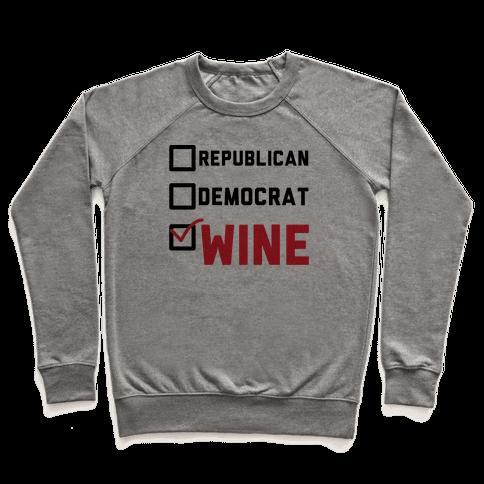 Republican Democrat Wine Pullover